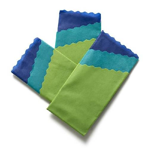 BLUE Food Wrap Smart Pack | 3 Multi-Packs, 9 wraps total | Hand Made in Toronto