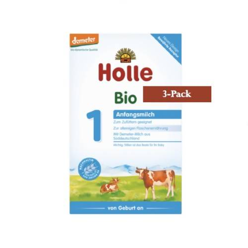 3-Pack Holle Stage 1 Organic (Bio) Infant Milk Formula (400g) $24.99 EA