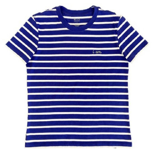 The Olen Stripe Tee (Adult), Cobalt