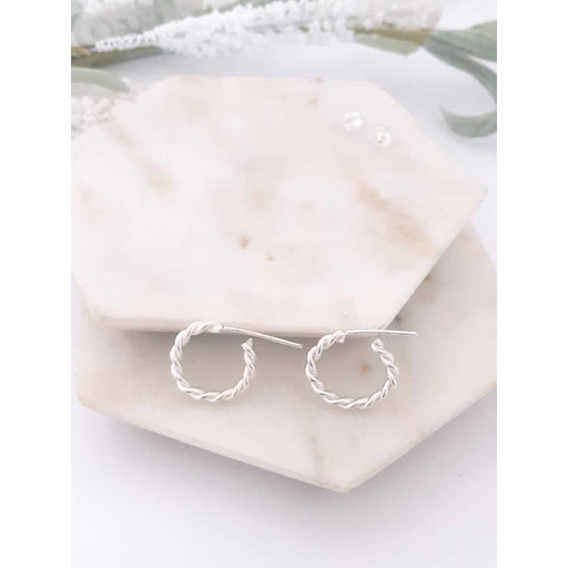 ECO - Entwined Huggie Hoop Earrings