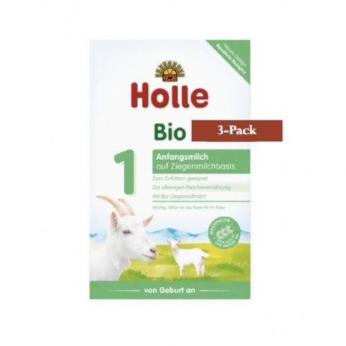 3-Pack Holle Goat Stage 1 Organic (Bio) Infant Milk Formula (400g) $31.66 EA