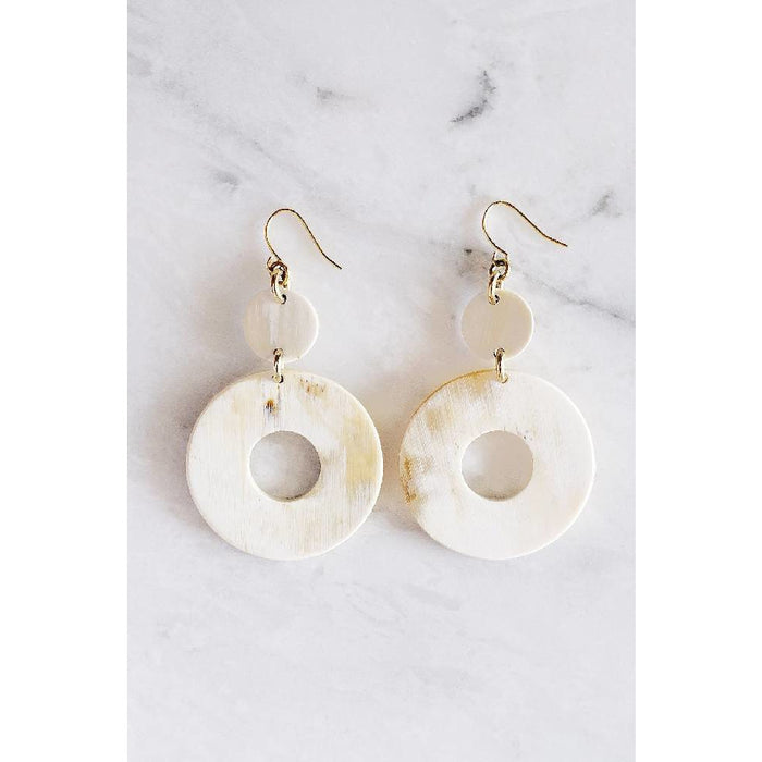 Hoan Toan 16K Gold-Plated Brass Buffalo Horn Donut Dangle Earrings