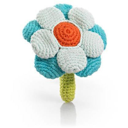 Flower Rattle Turquoise