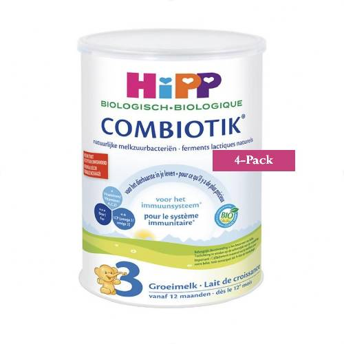 4-Pack HiPP stage 3 (12 months onwards) Organic Combiotik Infant Formula Milk (900g/32oz)-Dutch Version. $44.99 EA