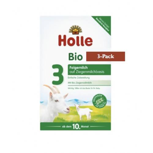 3-Pack Holle Goat Stage 3 Organic (Bio) Baby Milk Formula (400g) $31.66 EA