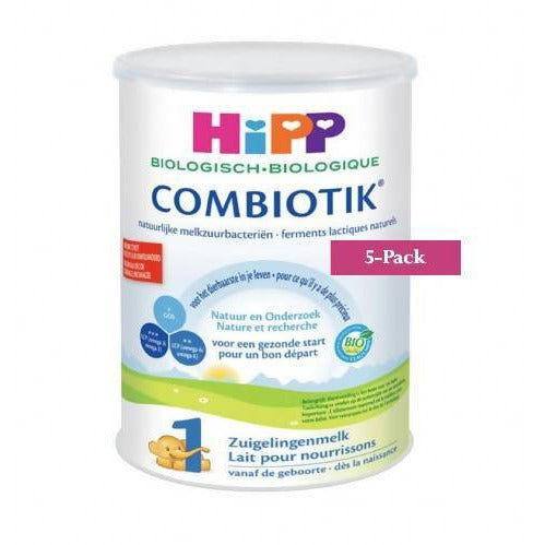 5-Pack HiPP stage 1 (0-6 months) Organic Combiotik Infant Formula Milk (900g/32oz)-Dutch Version. $43.99 EA