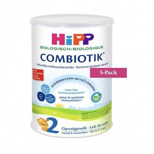 5-Pack HiPP stage 2 (6-12 months) Organic Combiotik Infant Formula Milk (900g/32oz)-Dutch Version  $39.99 EA