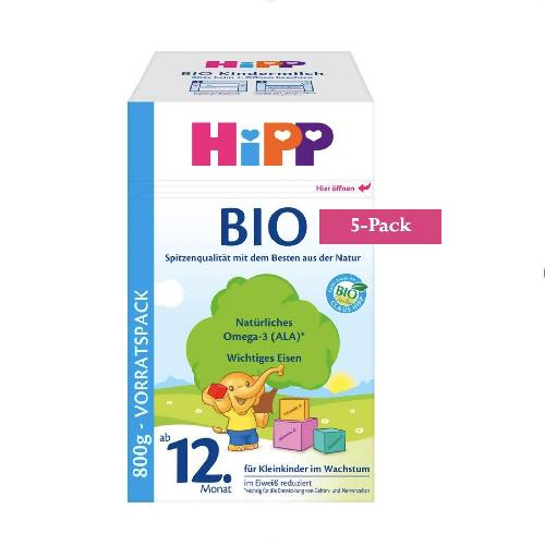 5-Pack HiPP Stage 4 Organic Bio Toddler Milk (800g) $33.99 EA