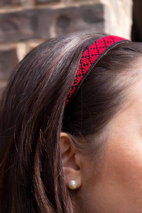 Tatreez Headband in Red