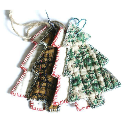 Cloth Tree Ornament - Variety Pack of 4