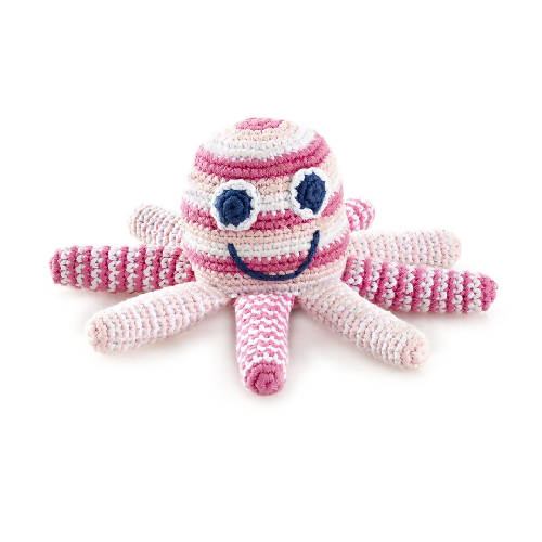 Octopus Rattle Pale Pink