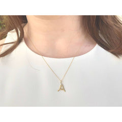Essence - Letter Pendant Necklace (A-J)