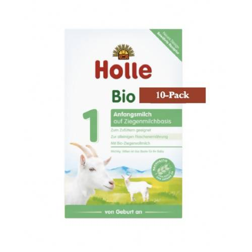 10-Pack Holle Goat Stage 1 Organic (Bio) Infant Milk Formula (400g) $26.99 EA