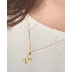 Essence - Letter Pendant Necklace (K-T)