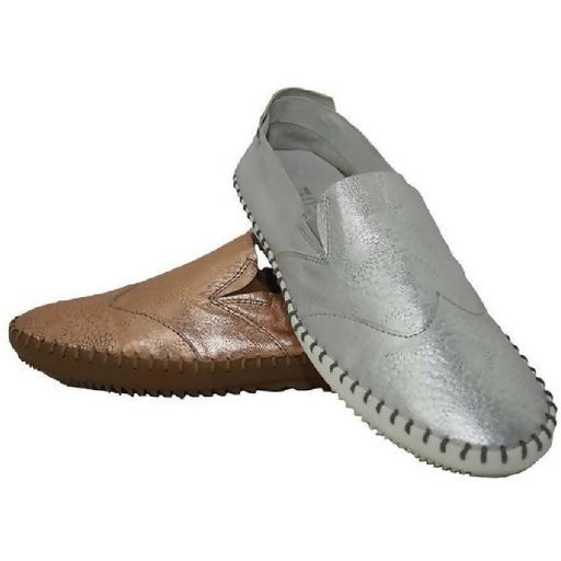 Women's Metallic Leather Slip On: The Great One