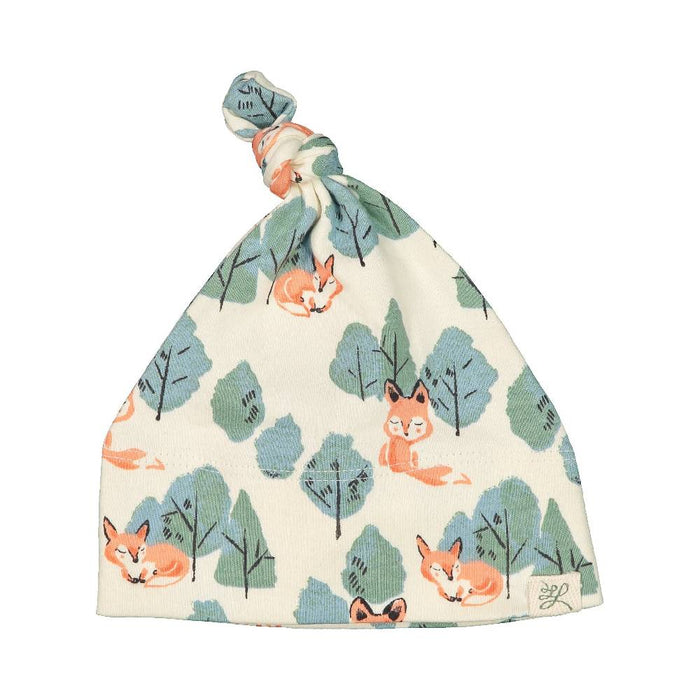 Top Knot Hat (Lentil Print)
