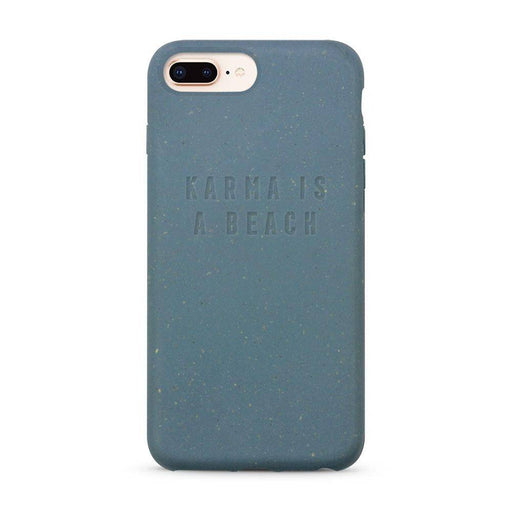 iPhone Case, Blue, Karma Is a Beach