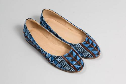 The Tatreez Flat - Blue and Copper