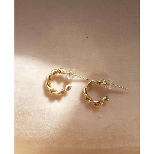 Karma - Entwined Small Hoop Earrings