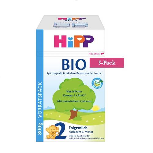 5-Pack HiPP Stage 2 Organic Bio Follow-on Milk (800g) $33.99 EA