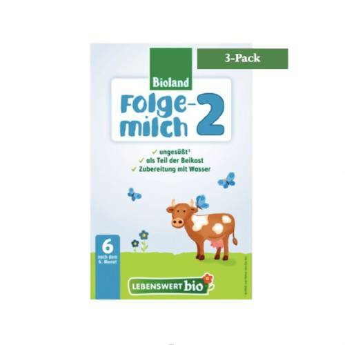3-Pack Lebenswert Stage 2 Organic (Bio)Follow On Infant Milk Formula (500g) $26.66 EA