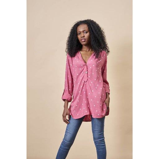 Baby Cacti Tunic in Rose + Cream