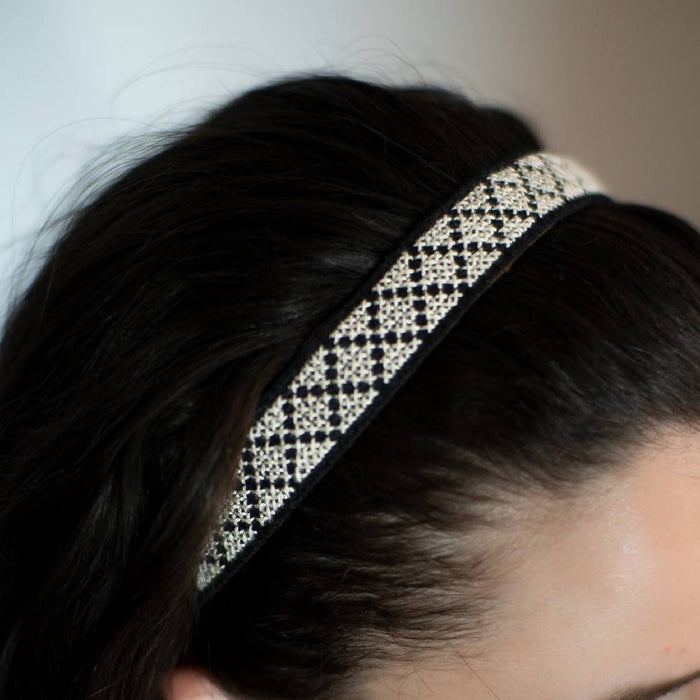 Tatreez Headband in White