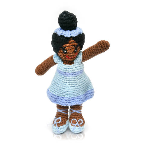 Ballerina Rattle Blue