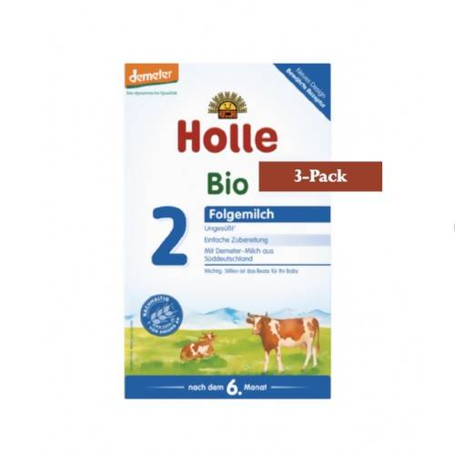 3-Pack Holle Stage 2 Organic (Bio) Follow-on Infant Milk Formula (600g) $26.66 EA