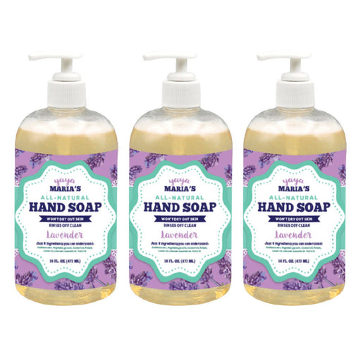 Yaya Maria's Natural Hand Soap 3-Pack