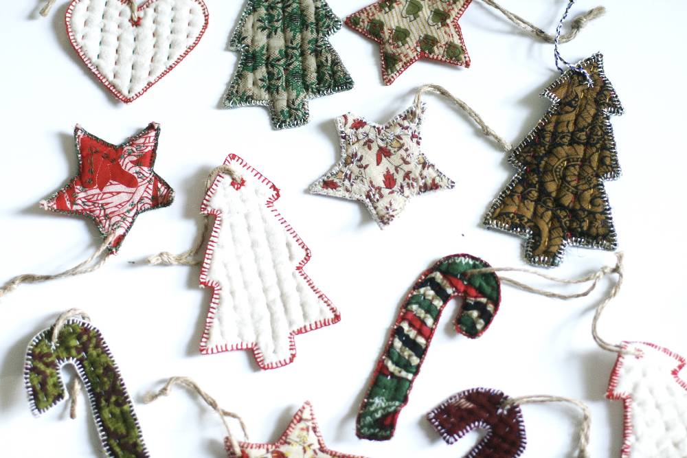 Cloth Star Ornament - Variety Pack of 4