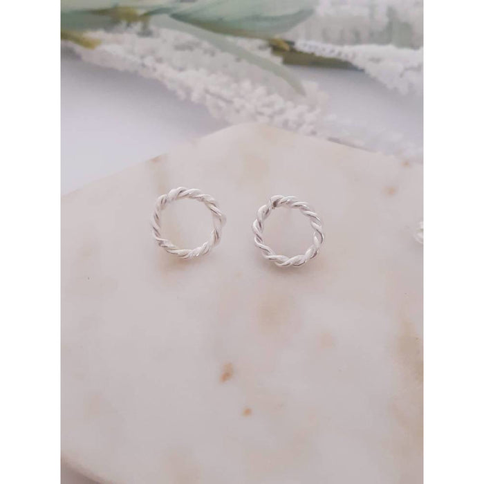ECO - Entwined Circle Stud Earrings