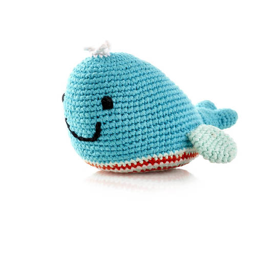 Whale Rattle - Deep Turquoise