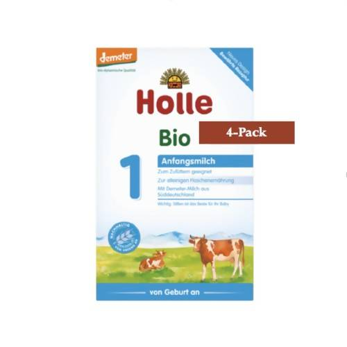 4-Pack Holle Stage 1 Organic (Bio) Infant Milk Formula (400g) $22.50 EA