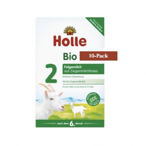 10-Pack Holle Goat Stage 2 Organic (Bio) Follow-on Infant Milk Formula (400g) $26.99 EA