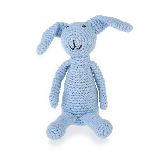 My First Bunny Rattle Blue