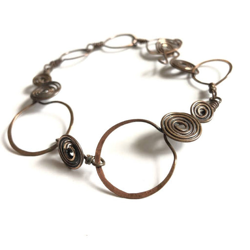 Layered Copper Coil Bracelet