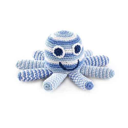 Octopus Rattle Pale Blue