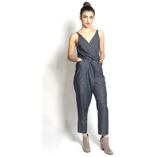 Baby Cacti Denim Strappy Jumpsuit