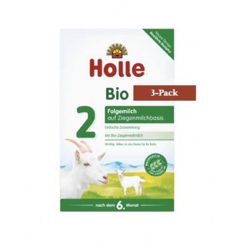 3-Pack Holle Goat Stage 2 Organic (Bio) Follow-on Infant Milk Formula (400g) $31.66 EA