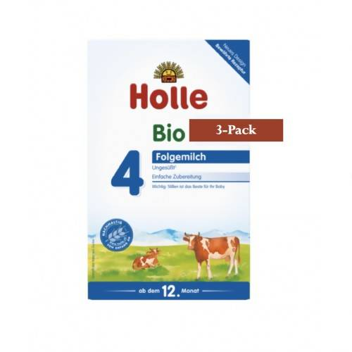 3-Pack Holle Stage 4 Organic (Bio) Growing-Up Milk Formula (600g) $30.99 EA