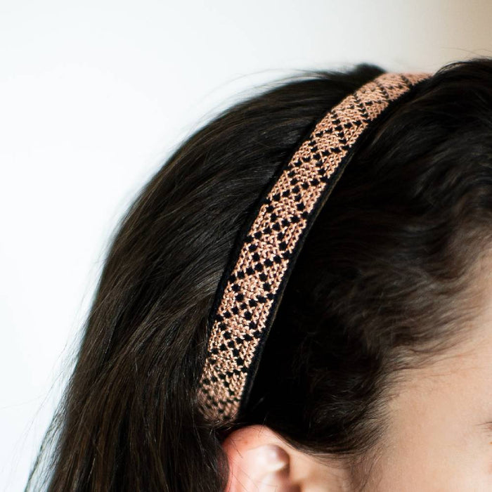 Tatreez Headband in Peach