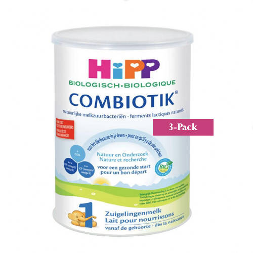3-Pack HiPP Stage 1 (0-6 months) Organic Combiotik Infant Formula Milk (900g/32oz)-Dutch Version. $46.67 EA