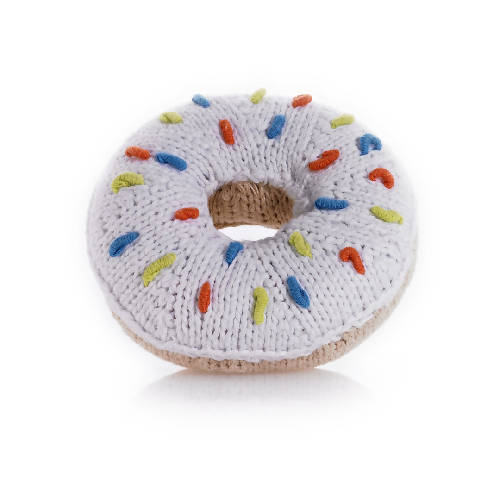 Donut Rattle White