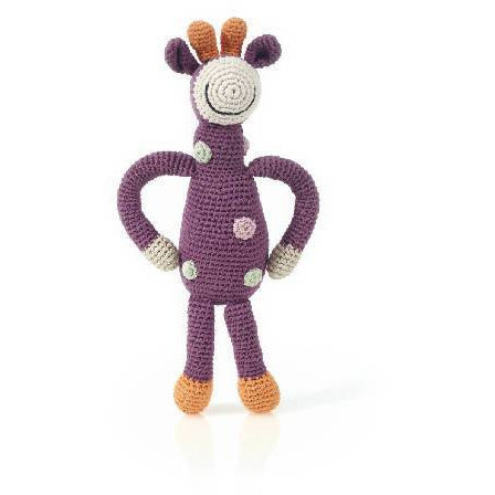 Organic Giraffe Rattle Purple