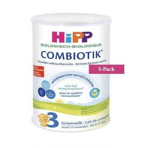 5-Pack HiPP stage 3 (12 months onwards) Organic Combiotik Infant Formula Milk (900g/32oz)-Dutch Version. $43.99 EA