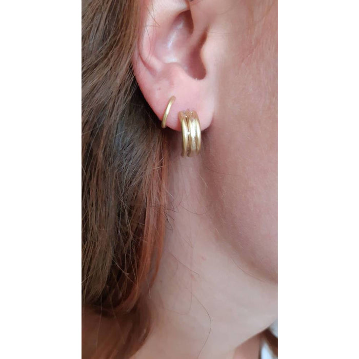 Essence - Triple Bar Triangle Earrings