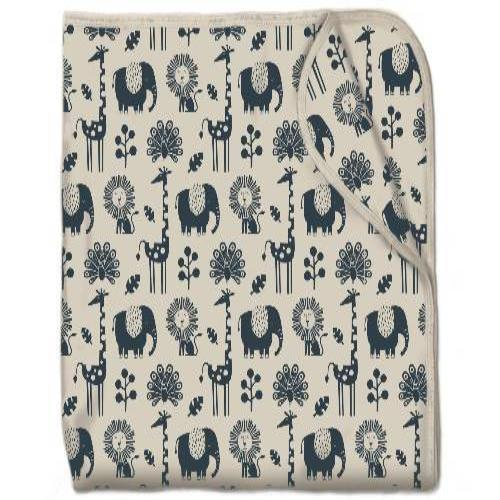 Snuggling Artist Blanket in Piha Print, Natural
