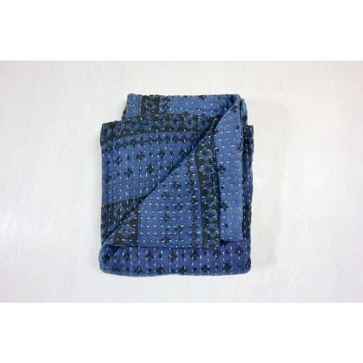 Indigo Katha Blanket - Mini