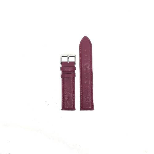 20mm Burgundy Stitched Vegan Leather Band